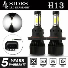 pair 4-sides H13 9008 LED Headlight Kit 2400W 6000K 360000LM Hi/low Beam Bulbs