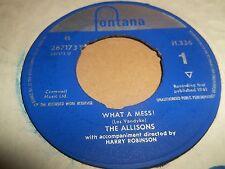 """El Allisons """"qué desastre"""" 7"""" Single Fontana en muy buena condición + 1961"""