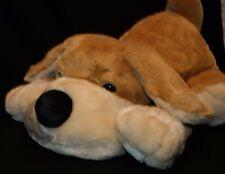 "FAO Schwarz Super Soft Plush Dog 22"" Stuffed Animal Laying Down pillow"