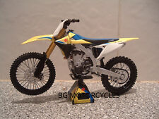 1:12 2018 SUZUKI RMZ450 RMZ 450 MOTOCROSS MOTO X FANTASTIC QUALITY TOY MODEL