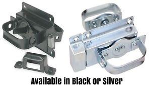 Barn Door Latch for Swinging Door,Pad Lock Lockable,Shed handle,Silver or BLACK