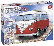 Ravensburger 3D 12516 - Furgoneta Volkswagen, color blanco / rojo  -162 piezas