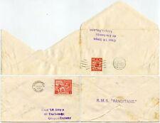 1930 MARITIME CAPT.SMYE TURNED COVER 1929 PUC 1d 1924 WEMBLEY + SHIP RANGITANE