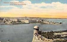 Havana Cuba panoramic birds eye view from Morro Castle antique pc Z21990