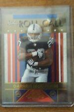 DARREN MCFADDEN OAKLAND RAIDERS 2008 DONRUSS PLAYOFF ROOKIE ROLL CALL CARD # 26