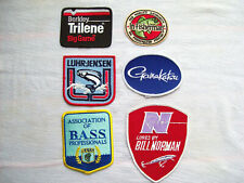 6 VINTAGE EMBROIDERED FISHING PATCHES