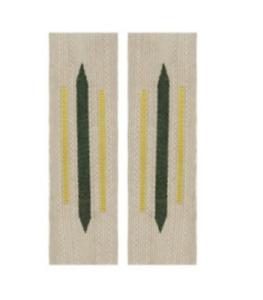 German Collar Litzen - Bevo Signals - Yellow