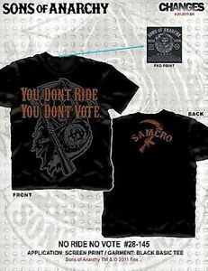 Sons Of Anarchy Soa You Don'T Ride You Don't Vote Grim Reaper t Tee Shirt S-3Xl