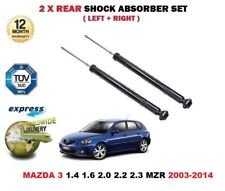 FOR MAZDA 3 1.4 1.6 2.0 2.3 MPS DI 2003-2014 NEW 2X REAR AXLE SHOCK ABSORBER SET