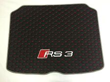 Audi RS3 8V 2013-2017 Sportback Diamond Stitched Boot Mat with Grey Piping