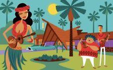 "SHAG Josh Agle ""Palm Springs Polynesia"" Unframed Serigraph Art Print Mint COA"