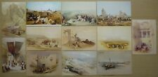CP LOT DE 12 REPRODUCTION CARTES POSTALES ANCIENNES ISRAEL - LITHO DAVID ROBERTS