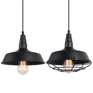 Vintage Industrial Barn Metal Hanging Pendant Light Ceiling Lamp Loft Fixture