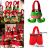 Christmas Santa Claus Pants Xmas Gift Bottle Bag Kids Candy Bag Stocking Filler