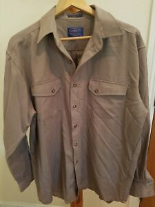 Pendleton Woolen Shirt mens Large 100% Virgin Wool High Grade Western cowboy LS