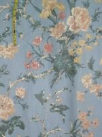 "large floral print sewing quilting fabric 1 1/3 yard x 52"" wide blue pink green"