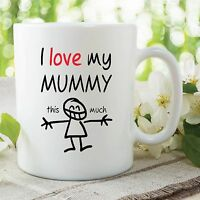 I Love My Mummy Mugs Mothers Day Gift Present Birthday Baby Shower WSDMUG514