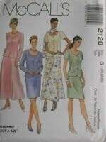 Skirt McCall/'s 2200 Misses/' Coat-Dress or Jacket Pants and Scarf Sewing Pattern Sizes 16 Uncut, Blouse