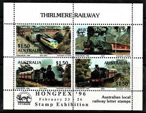 Australia 1986 Thirlmere Railway OP HONGPEX '96 Exhibition Cinderella Shtlet MNH