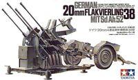 Tamiya 35091 1/35 Scale Model Kit WWII German 2cm Flak 38 Anti-Aircraft Gun
