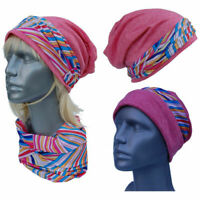 Cool4 Beanie Pink Patchwork IN Kopftuch-Look - 2erSet With Chemo Turban SBK03