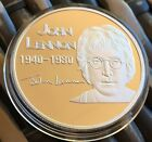The Beatles John Lennon 1940 1980 Peace Finished In Silver .999 1oz Coin New ✔️