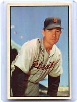1953 BOWMAN COLOR #100 BILL WIGHT BASEBALL CARD, DETROIT TIGERS