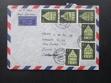 BRD 1957 Landtag Württemberg Nr. 279 MeF mit 6 Marken!! Luftpost in die Schweiz