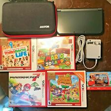 """New"" Nintendo 3DS XL 4 Games Mario Kart Super 3D Land Animal Xing New Leaf Case"