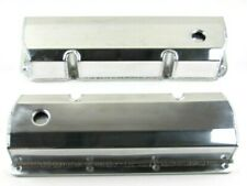 Ford 351C Tall Fabricated Aluminum Valve Cover Pair w/ Hole Polished BPE-2334P