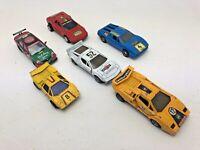 6 x Joblot Diecast Sports Cars Super Vintage Various Collectable Ferrari Lambo