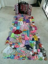 Barbie Mattel Wardrobe With Clothes Shoes, Handbags and Accessories some Vintage