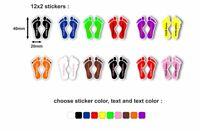 24x adesivi adesivo personalizzati scuola bambino etichette bambina scarpa
