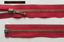 Opti Zipper Fasten Metal divisible Jewelry sliders 95 cm  red