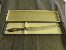 """VINTAGE SHEFFIELD ENGLAND KNIFE STERLING HANDLE  12 5/8"""" Long"""
