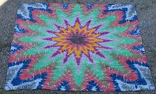 Hippie Tie dye dyed tapestry sheet curtain wall hanging XL 102*98 Mandala star