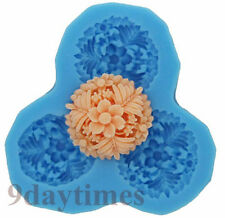 Flower Cabochon Silicone Mold Mould for Polymer Clay Resin Crafts Fimo 27mm A096