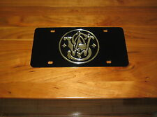 S&W license plate/ Laser cut 3D Inlaid Tag