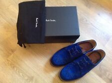 Men's blue suede Paul Smith brothel creepers shoes size 10 in box