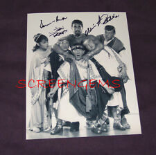 The 3 Three Stooges signed photo 3 costars Meet Hercules Trickett Burke Redeker