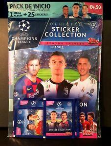 2019/2020 Topps Champions League - Sticker Album (25 Stickers) - Haaland Rookie