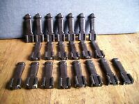 Antique Art Deco Byson Bakelite Stair Clips and Brackets (Set of 21 Complete)