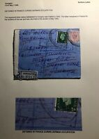 1940 Kensington England Censored Cover To Hungary Detained In France Due To War