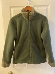 Patagonia Synchilla Women's Zip Front Jacket  L (olive green)