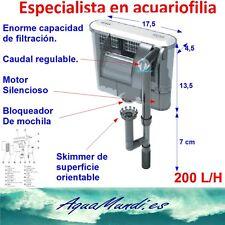 filtro de mochila cascada exterior externo xp9 200 L/H silencioso