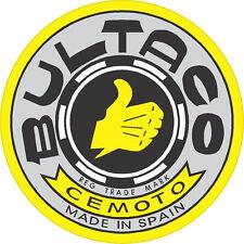 """#k247 (2) 2.35"""" Bultaco motorcycle tank decals stickers vinyl vintage retro"""