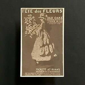 Plakat Briefmarke USA 1916 Rosemont Pennsylvania Blumen Festival