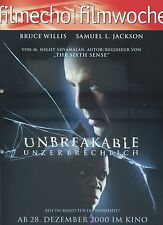 filmecho filmwoche Nr. 49 (2000) Unbreakable Unzerbrechlich Bruce Willis Jackson