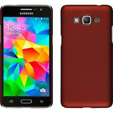 Hardcase Samsung Galaxy Grand Prime rubberized red Cover + protective foils