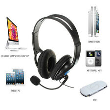 3.5mm Stereo Wired Gaming Headset Headphone w/ Mic for Sony PS4 PSP PC CellPhone